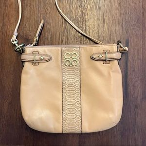 Tan Leather Coach Crossbody